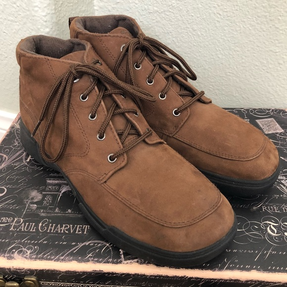 d66a8b108 Easy Spirit Shoes | Comfy Brown Suede Leather Ankle Bootie | Poshmark